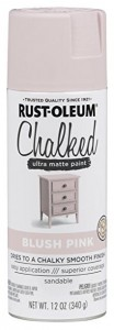 Farba kredowa do mebli Chalked Ultra Matte Rustoleum  kolor BLUSH PINK Spray 340g